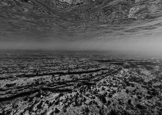 Nicolas Floc'h, Paysages productifs, Invisible, - 4m, Anse de l'arène, Cassis, 2018